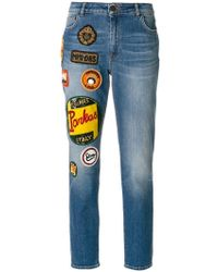 Mr & Mrs Italy - Patches Straight Jeans - Lyst