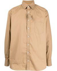 Kolor オーバーサイズ シャツ - ブラウン
