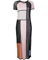 McQ Robe colour block à design d'empiècements - Multicolore