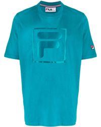 Fila ロゴプリント Tシャツ - ブルー