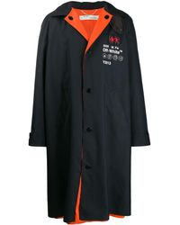Off-White c/o Virgil Abloh Oversized midi rain coat - Nero