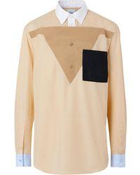 Burberry Klassiek Overhemd - Naturel