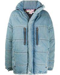 Zadig & Voltaire Denim Puffer Coat - Blue