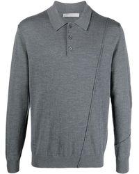 A_COLD_WALL* Merino Knit Polo Top - Gray