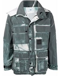 C.P. Company Куртка С Эффектом Потертости И Капюшоном - Зеленый