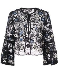 Lela Rose - 3d Embroidered Bolero Jacket - Lyst