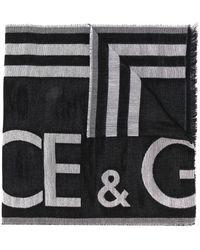 Dolce & Gabbana Bufanda con logo - Negro