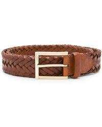 Santoni Woven belt - Marrone