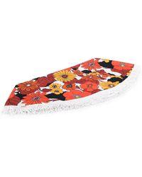 Dodo Bar Or Toalla redonda con estampado floral - Blanco