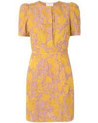 Karen Walker Платье Prairie С Цветочным Принтом - Желтый