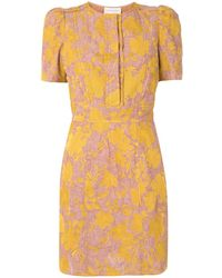 Karen Walker Prairie Floral Print Dress - Yellow