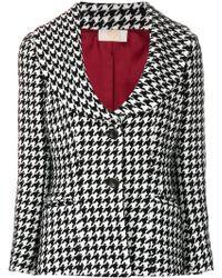 Sara Battaglia - Scoop-neck Tweed Jacket - Lyst