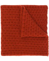 Holland & Holland Knitted Scarf - Red