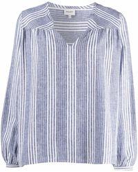 Woolrich Полосатая Рубашка С V-образным Вырезом - Белый