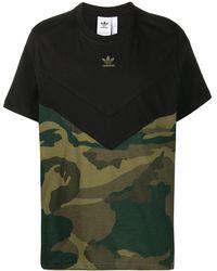adidas カモフラージュ Tシャツ - グリーン