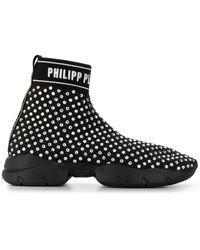 Philipp Plein Высокие Кеды - Черный