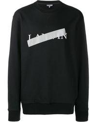 Lanvin ロゴセーター - ブラック