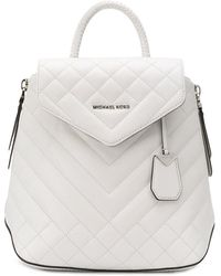 MICHAEL Michael Kors Susannah quilted backpack - Weiß