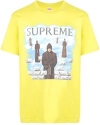 Supreme Levitation Print T-shirt - Yellow