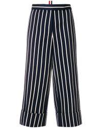 Thom Browne - Chenille Banker Stripe Cotton Blend Straight Leg Trouser - Lyst