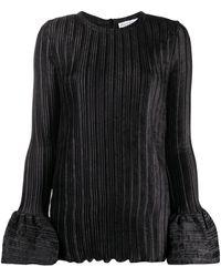 JW Anderson Блузка В Рубчик С Расклешенными Манжетами - Черный