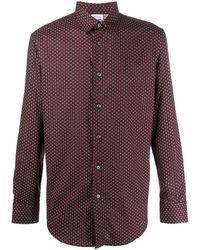 Brioni Рубашка С Длинными Рукавами И Принтом Пейсли - Красный