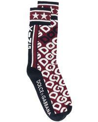 Dolce & Gabbana Sokken Met Jacquard Logo - Zwart