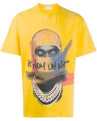 ih nom uh nit Graphic-print Boxy T-shirt - Yellow
