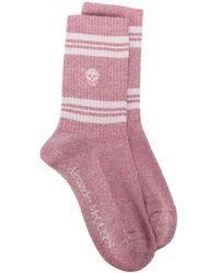 Alexander McQueen Трикотажные Носки С Декором Skull - Розовый