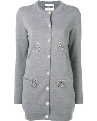 Moschino Button-up cardigan - Gris