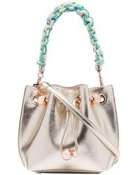 Sophia Webster - Champagne Metallic Romy Mini Leather Bucket Bag - Lyst