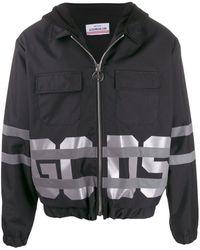 Gcds ロゴ フーデッドジャケット - ブラック