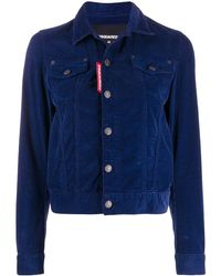 DSquared² Fitted Corduroy Jacket - ブルー