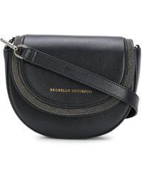 Brunello Cucinelli レザートリム ベルトバッグ - ブラック