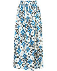 Astraet - Printed Full Midi Skirt - Lyst