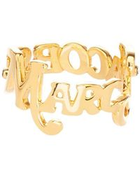 Marc Jacobs The Logo Stack Ring - Metallic