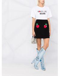 Boutique Moschino アップルモチーフ ミニスカート - ブラック