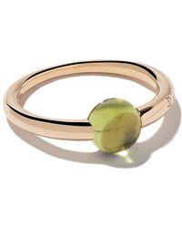 Pomellato - 18kt Rose & White Gold M'ama Non M'ama Peridot Ring - Lyst