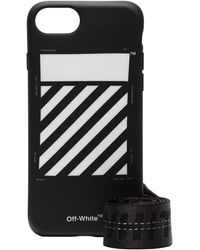 Off-White c/o Virgil Abloh Black And White Diag Iphone 8 Case