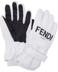 Fendi Перчатки С Логотипом - Белый