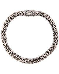 John Hardy Silver Classic Chain Flat Chain Bracelet - Metallic