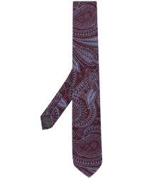Dell'Oglio Cravatta con stampa paisley - Rosso