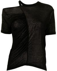 IRO Doly オープンショルダー Tシャツ - ブラック