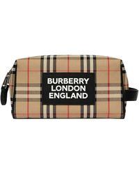 Burberry Bolso de mano con motivo Vintage Check - Multicolor