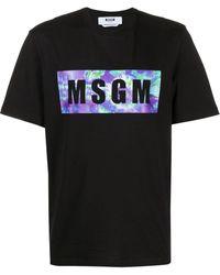 MSGM ロゴ Tシャツ - ブラック