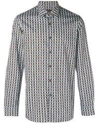 Prada - Patterned Shirt - Lyst