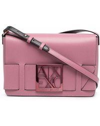 EA7 Logo Plaque Crossbody Bag - Pink