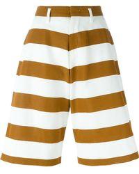 N°21 - Striped Wide Leg Knee-length Shorts - Lyst