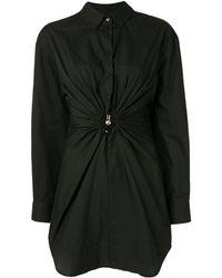 Christopher Esber Pierced シャツドレス - ブラック