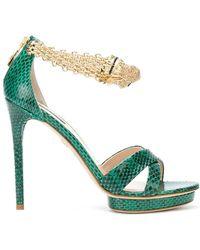 Roberto Cavalli - Panther Jewel Anklet Platform Sandals - Lyst